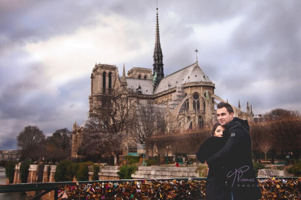 Séance engagement à Notre Dame de Paris