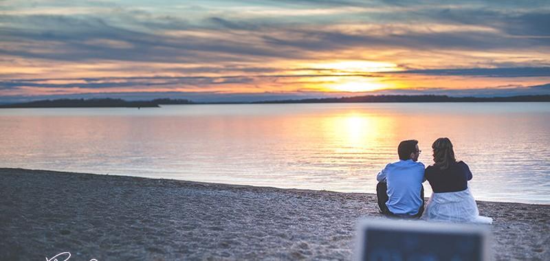 Couché de soleil à Mesnil Saint Père en amoureux