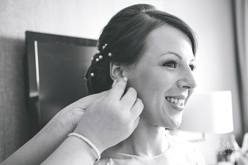 Boucle d'oreille mariée