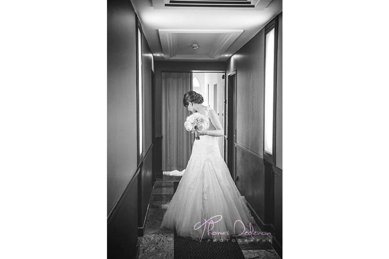 une mariée avant la mairie