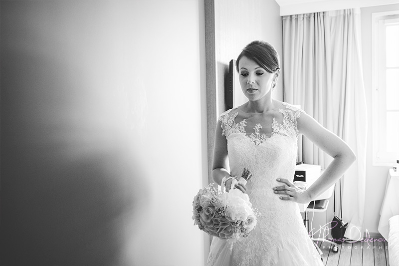 une mariee et son bouquet