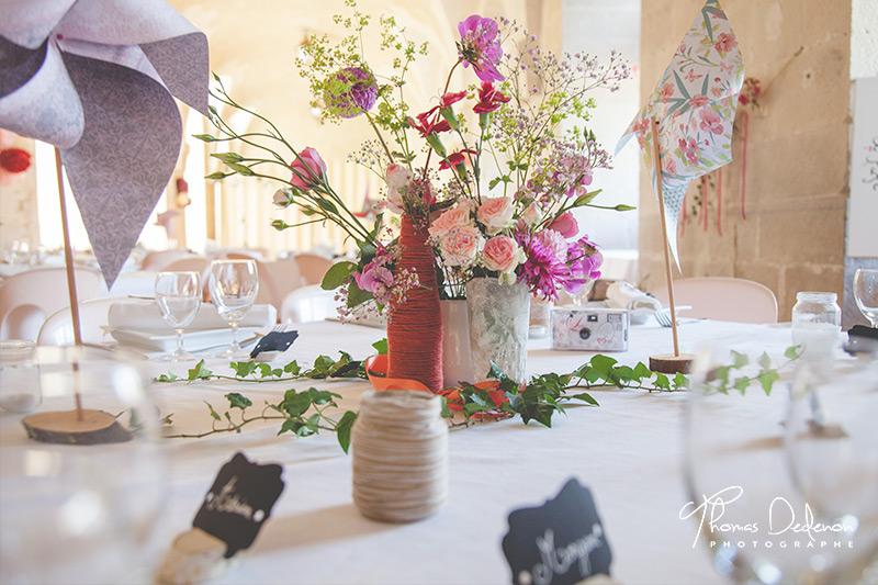 photo de décoration table mariage