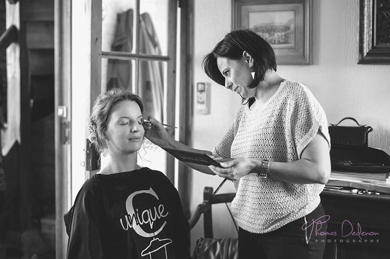photo de maquillage de mariée