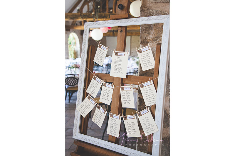 Photo plan de table mariage