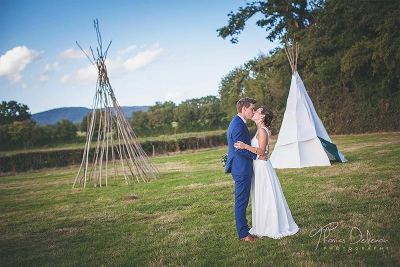 photo de couple de mariage à autun