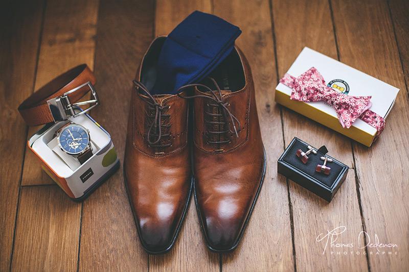 les accessoires du mariés pour son habillement