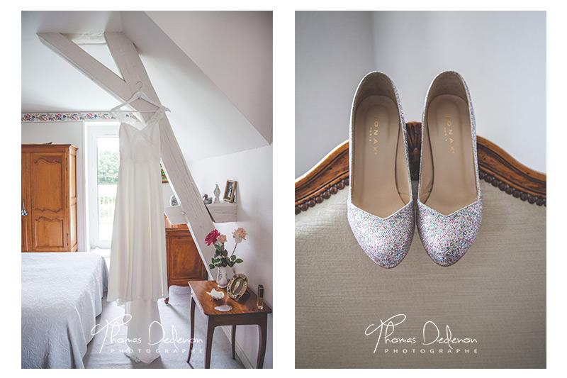 la robe de la mariée et ses chaussures
