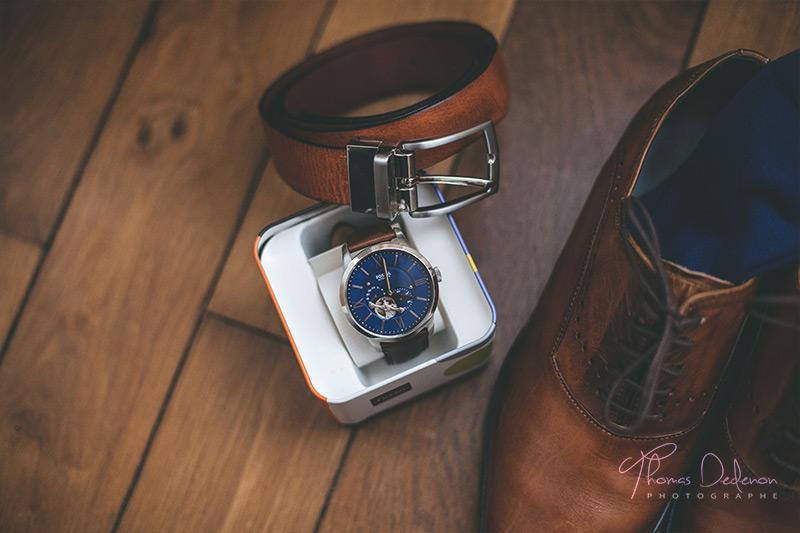 la montre du marié