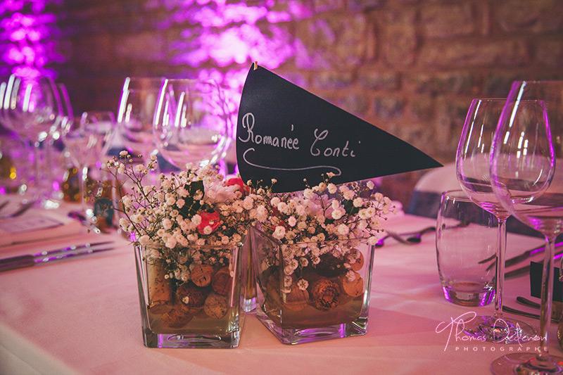 la décoration de la salle de bligny sur ouche pour un mariage