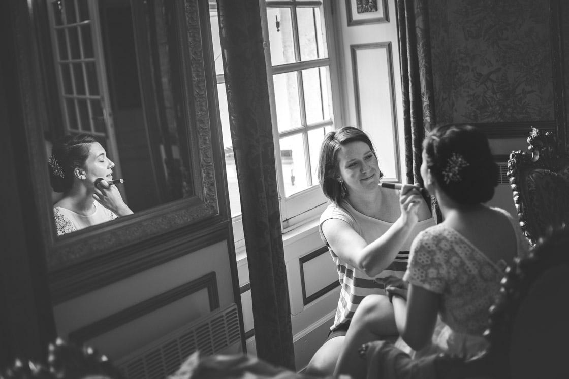 Préparatifs de mariage château de montaubois