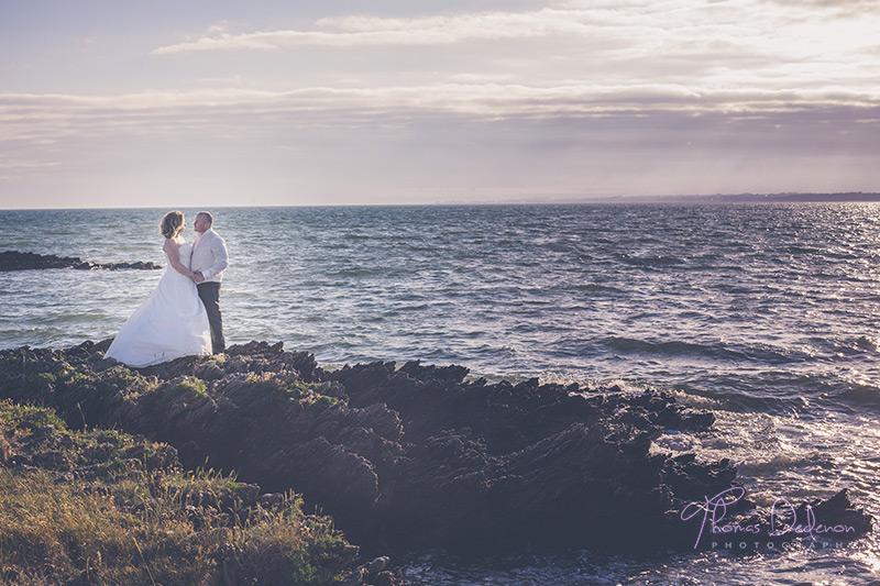 Trash the dress en bord de mer dans le morbihan