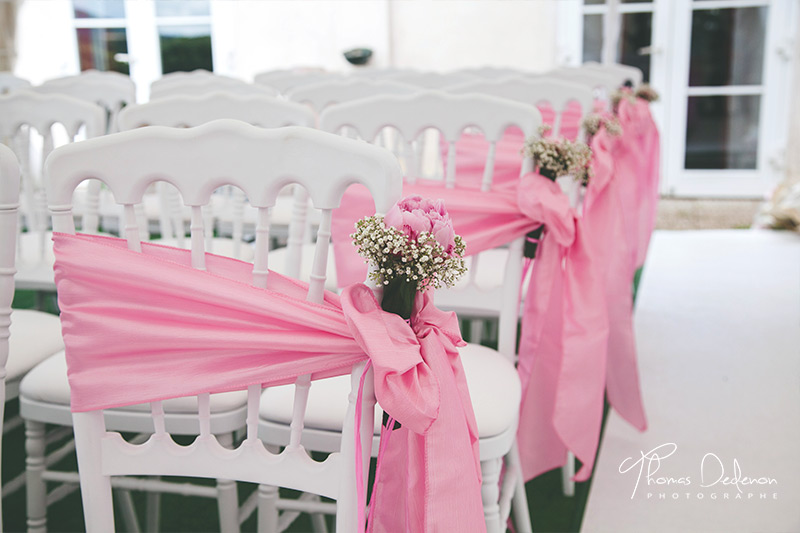 decoration mariage romantique rose