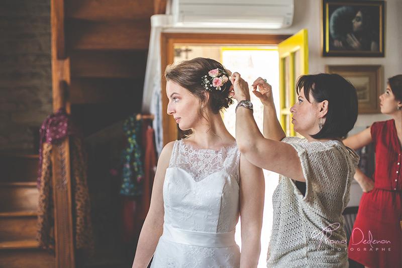 photo coiffure mariée