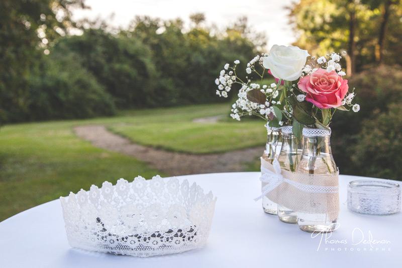 décoration chic et champêtre mariage