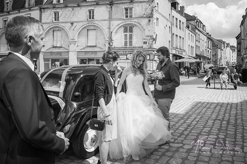 traction voiture mariage