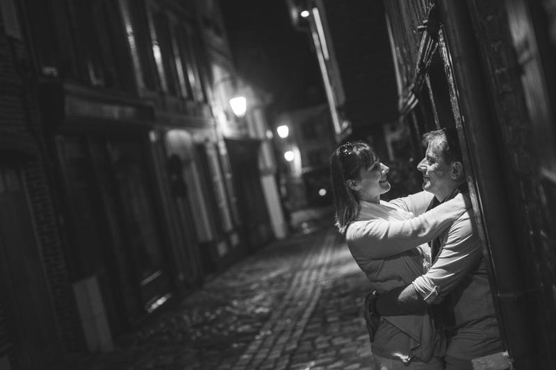 Seance engagement rue Honfleur de nuit