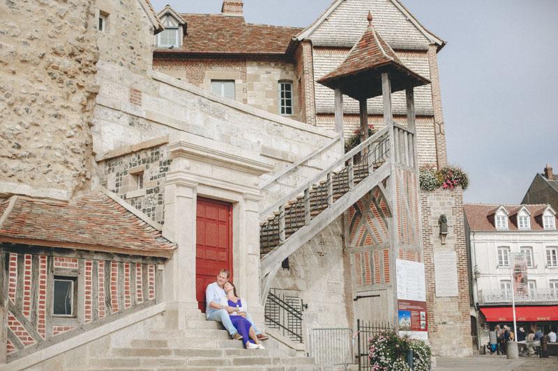 Love session in Honfleur Normandie