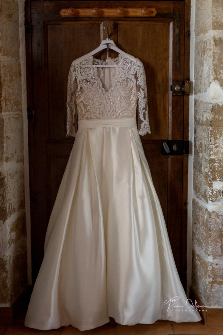 une robe de mariée de chez blanc beige Troyes