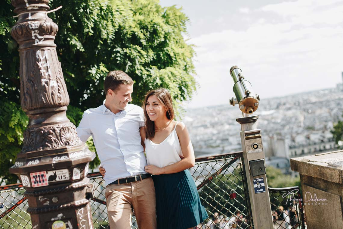 Séance Engagement Montmartre, vue sur Paris