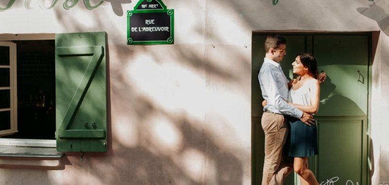 Seance Engagement à Paris, Quartier Montmartre | Photographe de Mariage