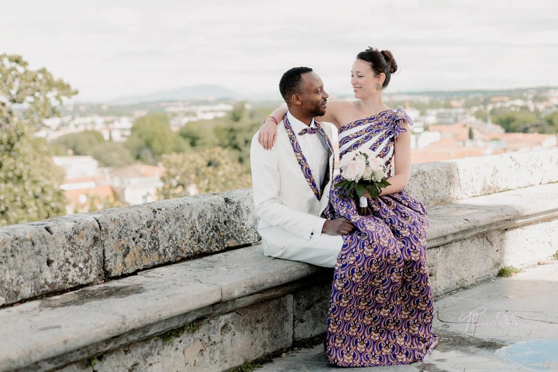 Séance photo de couple sur les hauteurs de montpellier