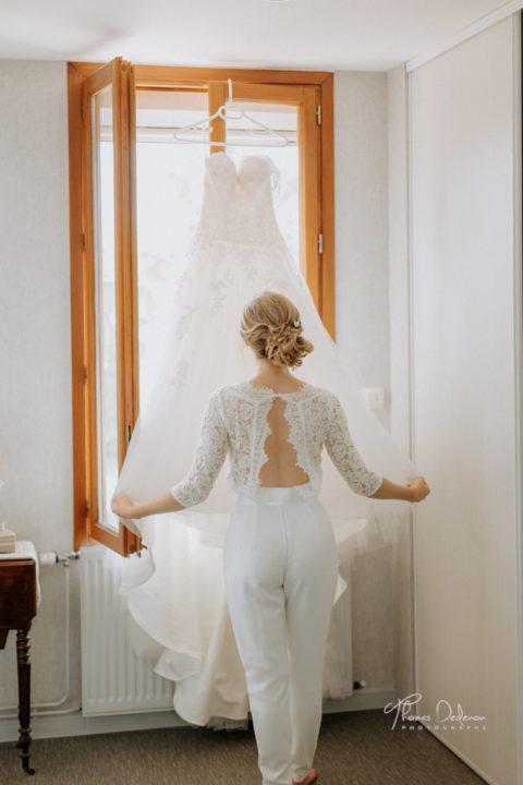 robe de mariée blanc beige troyes