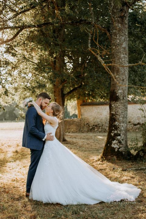 photo de mariés au chateau de vaux