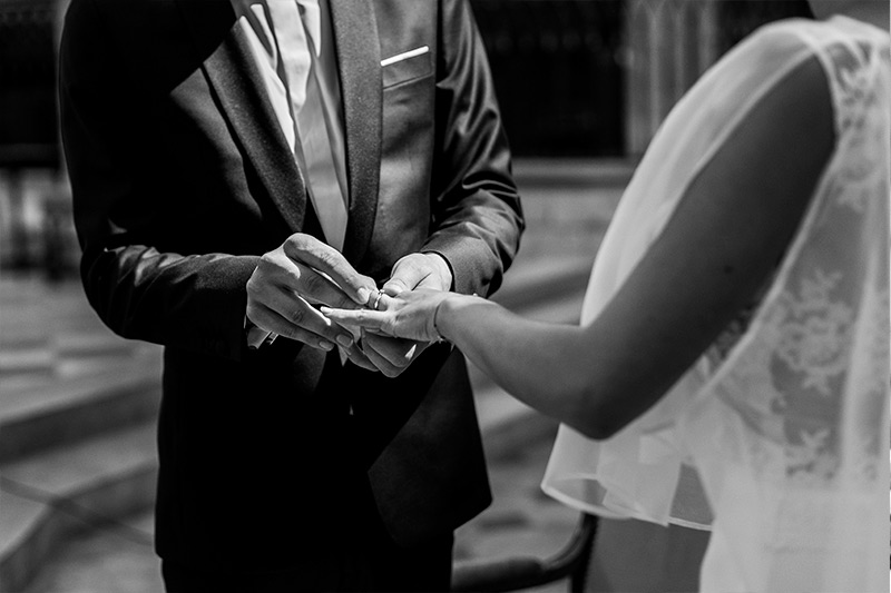 photo de mariage cathédrale orleans