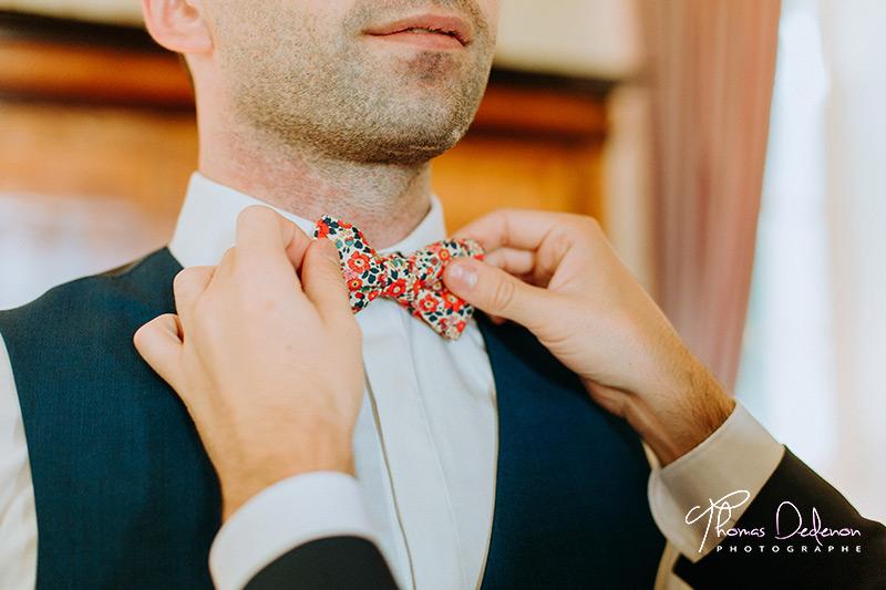 préparatifs du marié au domaine du cinquau