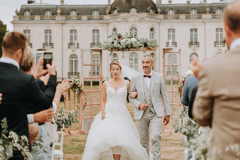 mariage au chateau de pont chevron