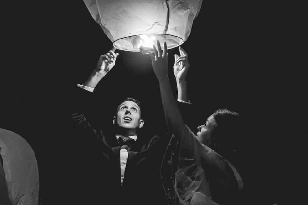 lancé de lanterne mariage